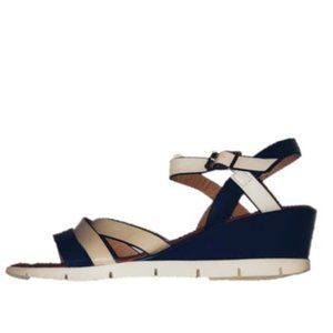 Lady Godiva Multi color strap wedge Sandals.